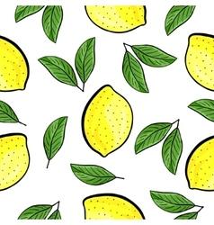 Seamless hand drawn lemon pattern vector image vector image