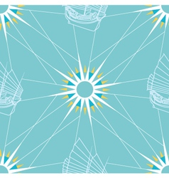 Seamless Sailing Pattern vector image vector image