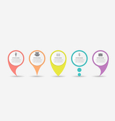 set of circle pointers infographic business vector image