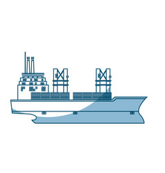 Ship container cargo delivery crane - shadow vector