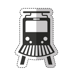 train silhouette isolated icon vector image