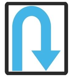 Turn back framed icon vector