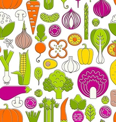 Vegetable Seamless vector image vector image