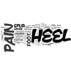 What is heel pain text word cloud concept vector
