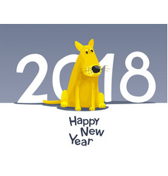 Yellow dog 2018 vector