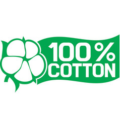 100 percent cotton symbol vector image