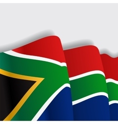 South african waving flag vector