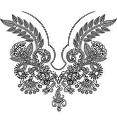 Neckline embroidery fashion vector image