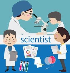 Research science laboratory scientist vector