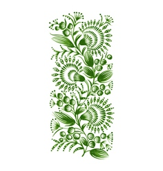 green floral decorative ornament vector image