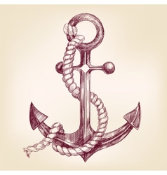 Anchor hand drawn llustration vector