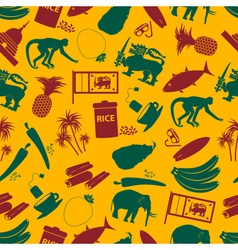 Sri-lanka country symbols color seamless pattern vector