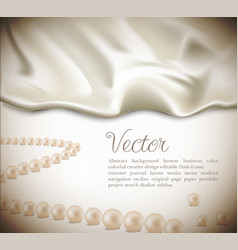 Satin silk background vector