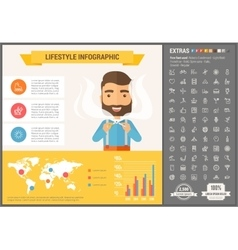 Lifestyle flat design infographic template vector