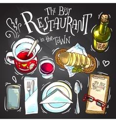restaurant food vector image