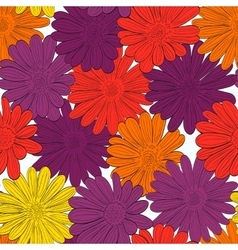 Seamless daisies pattern vector