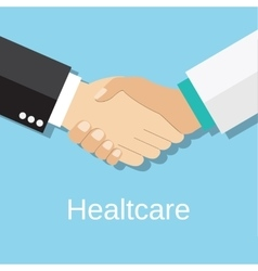 Handshake doctor and patient vector