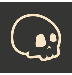 Flat in black and white mobile application skull vector