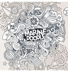 Doodles abstract decorative marine nautical vector