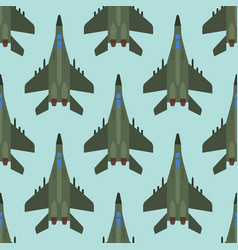 airplane top view seamless vector image vector image