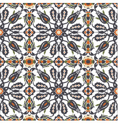 Arabesque vintage decor floral ornate seamless vector
