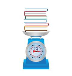 Books on the scales vector