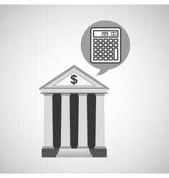 Building bank economy calculator money vector