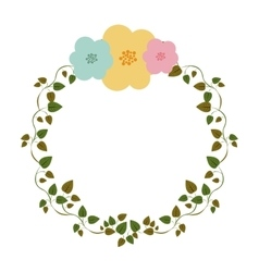 Colorful ornament creepers with flowers vector