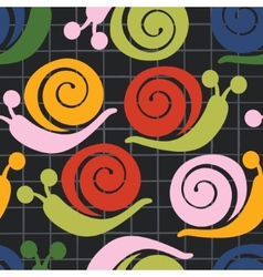 Colorful pattern with snails vector