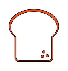 delicious bread food vector image