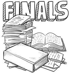 doodle school finals vector image vector image