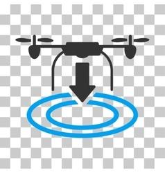 Drone landing icon vector