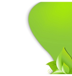 Eco green background with leafs vector