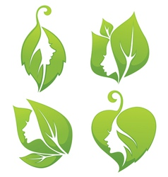 ecology beauty symbols vector image vector image