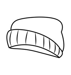 fashion beanie hat vector image