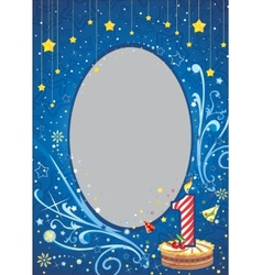 First birthday frame vector