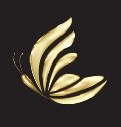 Gold butterfly logo vector