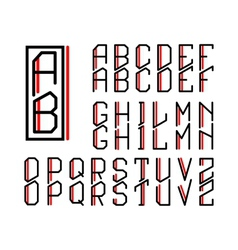 Monogram art nouveau and a set of letters vector