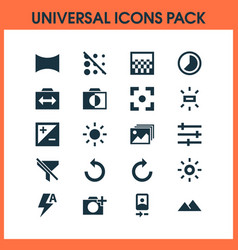 Picture icons set collection of capture vector