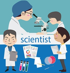 Research science laboratory scientist vector