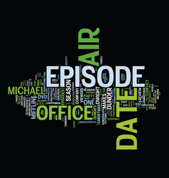 the office season dvd review text background word vector image vector image