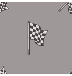 Vintage speed flag patern vector