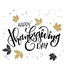 Hand lettering thanksgiving greetings text vector