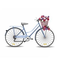 Bicycle with flowers isolated vector