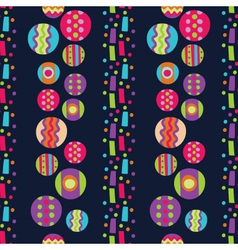 Seamless pattern with bright abstract shapes vector