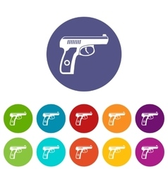 Gun set icons vector image