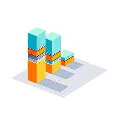 Icon stick graph vector