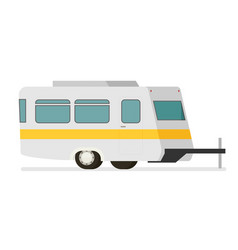 Flat trailer isolated on white background vector