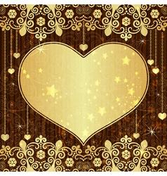 Vintage valentine frame vector image