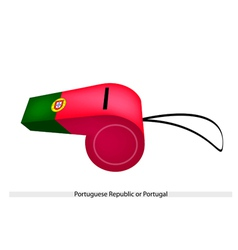A whistle of the portuguese republic flag vector
